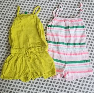 Set of 2 Rompers From Gymboree & Benetton